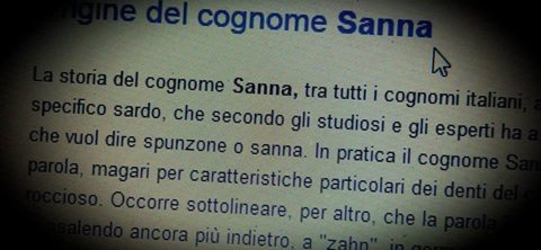 Tra Sanna, Sanna e Sanna…